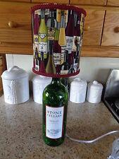 Folk Art/By Artist Table/Desk Lamp (Merlot/Wine Bottles Shade)