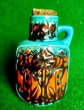 Vase West Germany Bay Keramik 97 - 20 Vintage Orange Bleu 70s