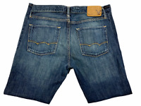 Mens American Eagle Blue Denim Slim Straight Jeans Distressed Size 31x30