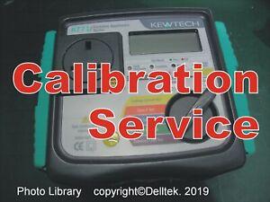 Calibration Service: Pat Tester   Kewtech Pat KT71. Fast Reliable Turnaround