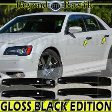 For 2011 12 13 2014 CHRYSLER 300 FULL MIRROR 4 DR HANDLE W// SMART BLACK COVER