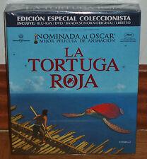 LA TORTUGA ROJA COLECCIONISTA DIGIPACK BLU-RAY+DVD+CD+LIBRO NUEVO (SIN ABRIR) R2