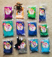 1998 McDonalds TY Teenie Beanie Babies (Tush Tags: 1993) COMPLETE SET of 12