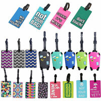 Travel Luggage Bag Tag Name Address ID Label Rubber Suitcase Baggage Tags