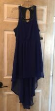 New Angie Girl's Dress, Size S, Blue, Sleeveless, Short In Front Long In Back