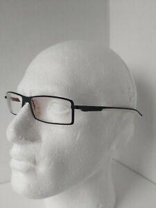 TAG HEUER TH0802 011 eyeglasses glasses frame - black and white