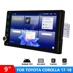 For Toyota Corolla 2017 2018  Android 10 Plug and Play Head Unit with 1.8GHz DSP