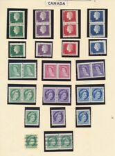 CANADIAN COIL PAIRS AND SINGLES. ALL MINT. SOME HINGED. WITH PRECANCELS