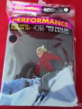 New Women's Gold Medal Performance Thermals Base Layer Two Piece Set Size Large