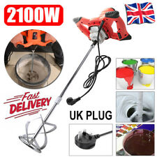 Paddle Mixer Electric Plaster Mortar Cement Paint Stirrer Plastering Whisk 2100W