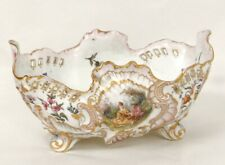 Jardinière coupe porcelaine Paris scène galante coquilles Biéléwiecka XIXè