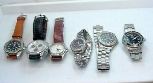 6 PIECE  VICTORINOX WRISTWATCH GROUP  VARIETY 4 REPAIR  PARTS UNTESTED  AS IS