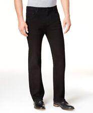 $250 CLUB ROOM mens STRAIGHT LEG FIT JEANS BLACK STRETCH DENIM PANTS 32 W 32 L