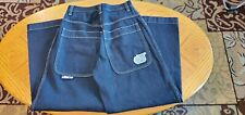 New listing Rare Jnco Jeans Black/Blue Denim Vintage Original 90s Twin Cannon 101s