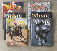 LOT 6 MAN AT ARMS Magazines Complete Year 1990 RIFLE HANDGUN SHOOTING SWORD NRA