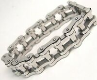 Biker Motorcycle Chain Bracelet Stainless Surgical Steel 10 inches