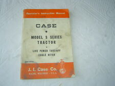 Case S series tractor operator's manual