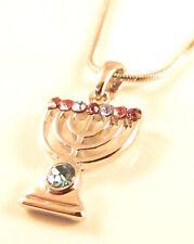 Menorah Judaica Pendentif Kabbale Bijou Cadeau Argent Juif Judaica