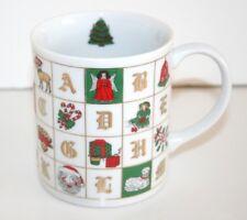 The ABC's of Christmas Coffee Mug 18K Gold Trim Seymour Mann, Inc  1982  NEW