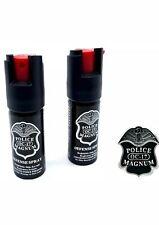 2 Pack Police Magnum pepper spray 1/2oz unit safety lock self defense security