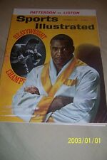 1962 Sports Illustrated SONNY LISTON vs Floyd PATTERSON Heavyweight FREE/SHIP