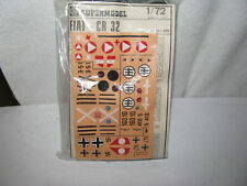 model airplane- 1/72- Fiat Cr 32 kit- decals for Italy/Austria/Spain