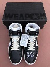 15d43e49b3ad Larry Bird Signed Black White Converse Weapons Shoes  Boston Celtics