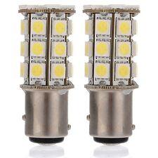20x White 1157 Ba15s RV Camper Trailer 5050 27-SMD LED Interior Light Bulbs