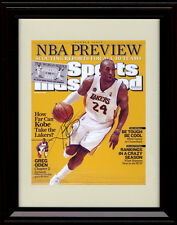 Framed Kobe Bryant SI Autograph Replica Print Los Angeles Lakers Preview