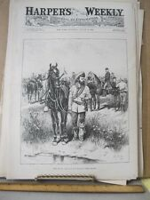VIntage Print,THE SCOUT,Zogbaum,Harpers,1888
