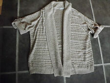 """LADIES WALLIS BEIGE CHUNKY KNIT KNITTED CARDIGAN SIZE LARGE CHEST 42"""" 107cm"""