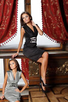 New Ladies Cocktail Party Formal Vintage Evening Sexy Classic Prom Dress 8 - 18
