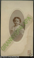 Antique Photo - Little Boy With Curly Hair, Cute - Newton, Kansas