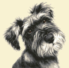 MINIATURE SCHNAUZER dog, full counted cross stitch kit