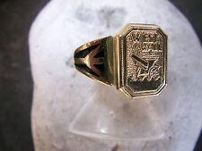 Patriotischer-West-Wall-Ring-Echtes–Email-585er-Gelb-Gold-1939-1960