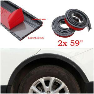 "2x 59"" Widening 6.5cm Car Fender Flare Extension Wheel Eyebrow Protector Strip"