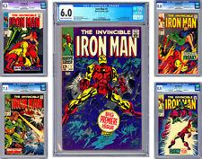 INVINCIBLE IRON MAN #1-2-3-4-5 CGC 6.0-8.5-8.0-7.5-8.0 COLAN GOODWIN CRAIG 1968