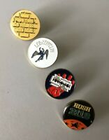 Vintage Judas Priest Rush 2112 Led Zeppelin Pink Floyd The Wall Pins Rare