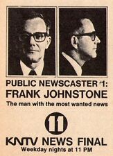 1967 Tv Ad~FRANK JOHNSTON is PUBLIC NEWSCASTER #1 on KNTV in SAN JOSE,CALIFORNIA