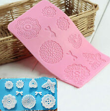 Flower Butterfly Silicone Fondant Cake Decorating Lace Moulds Icing Sugarcraft