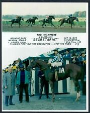 SECRETARIAT - 1972 CHAMPAGNE STAKES 8X10 HORSE RACING PHOTO COLLAGE!