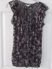 New Look Ladies Top Grey / Black Size 12