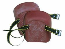 Custom Leathercraft 317 Molded Natural Rubber Kneepads, Single Strap
