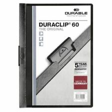 Durable 6mm Duraclip File A4 Black Pk25 - DB220901