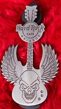 Hard Rock Cafe Pin WINGED SKULL GUITAR angel metal orlando logo lapel biker LE