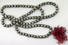 Antique Asian Glass Crystal Mala Praying Beads