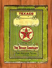 TIN-UPS TIN SIGN Texaco Gun Oil Gas Hunting Auto Vintage Retro Wall Art Decor