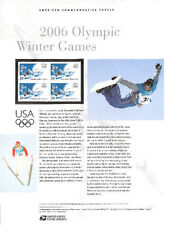 #755 39c 2006 Winter Olympics Stamp #3995 USPS Commemorative Stamp Panel