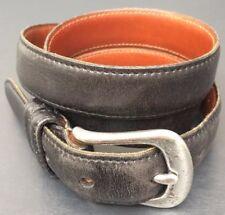 COACH Women's Black Genuine Leather Belt Buckle 34