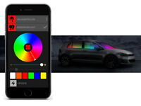 BEPHOS® RGB LED Innenraumbeleuchtung VW UP ohne Panoramadach APP Steuerung